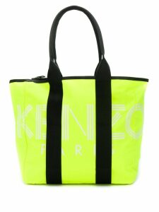 Kenzo logo print tote bag - Green