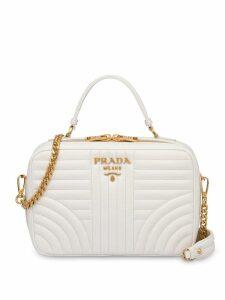 Prada Diagramme medium leather bag - White