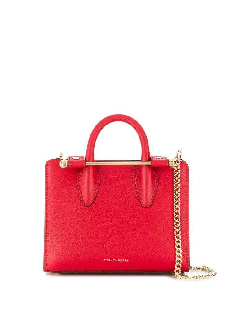 Strathberry bar detail tote - Red