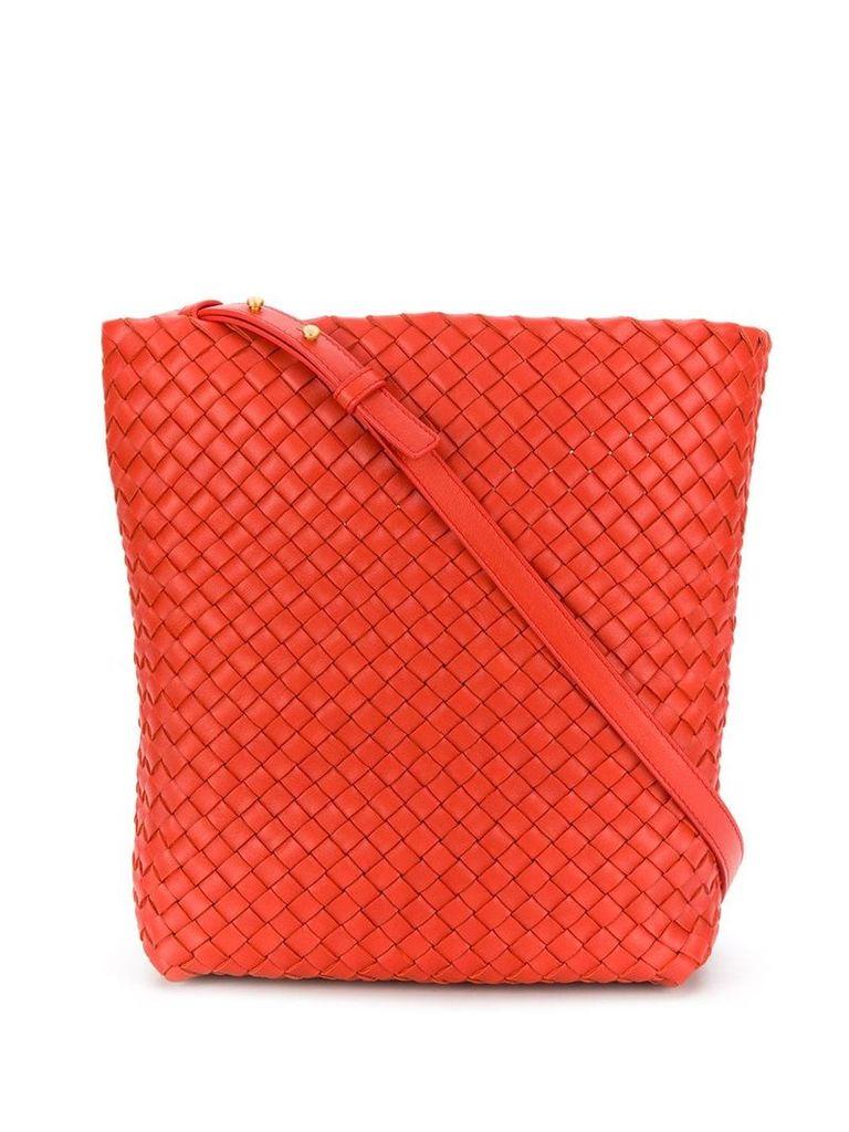 Bottega Veneta woven shoulder bag - Orange