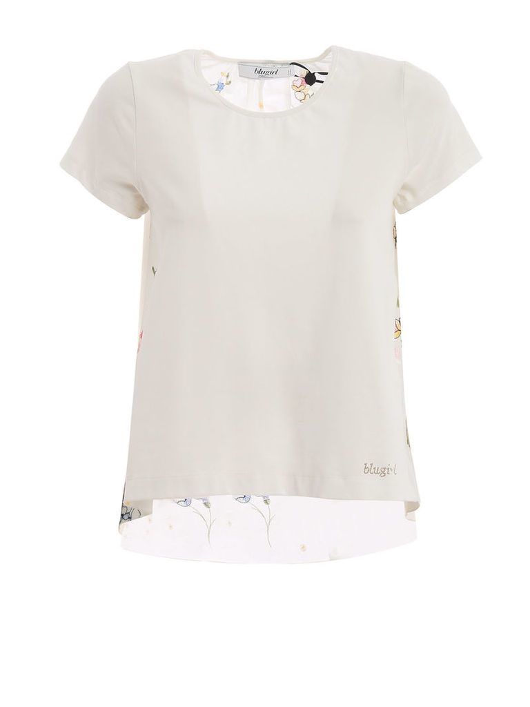 Blugirl Embroidered Floral T-shirt