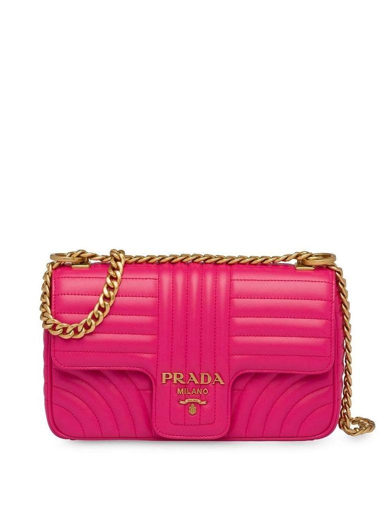 Prada Diagramme medium leather bag - Pink