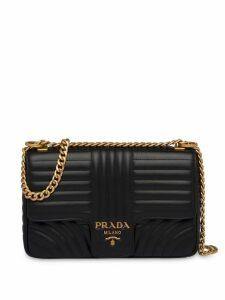 Prada Diagramme large shoulder bag - Black