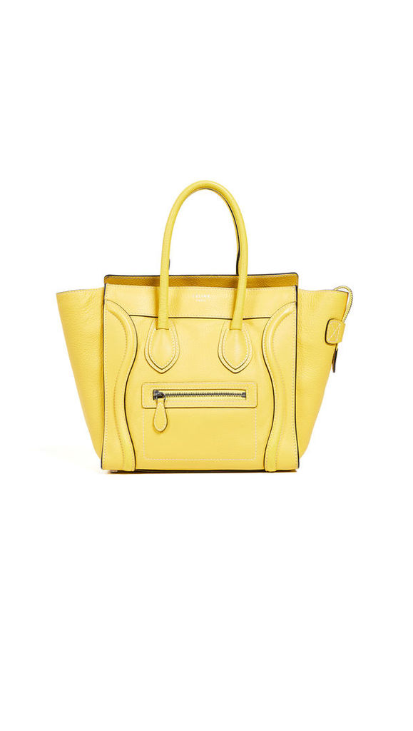 What Goes Around Comes Around Celine Yellow Medium Luggage Micro Bag