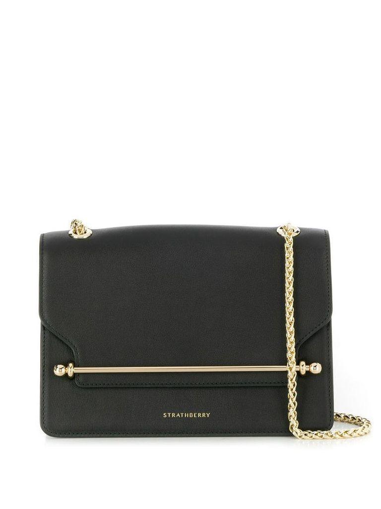 Strathberry bar detail shoulder bag - Black