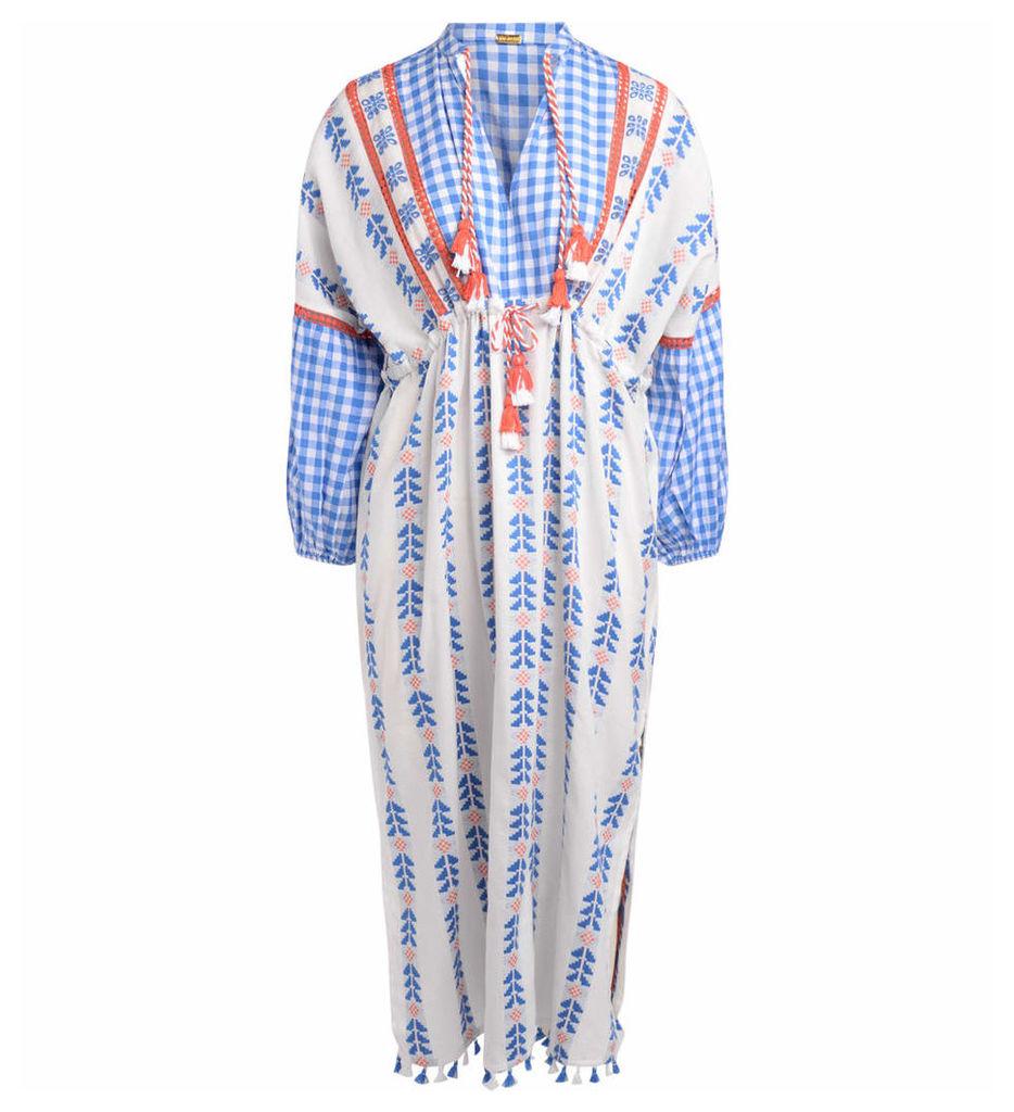 Dodo Bar Or Modello Miguel Multicolor Jacquard Long Dress