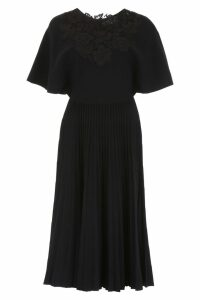 Valentino Pleated Jersey Dress