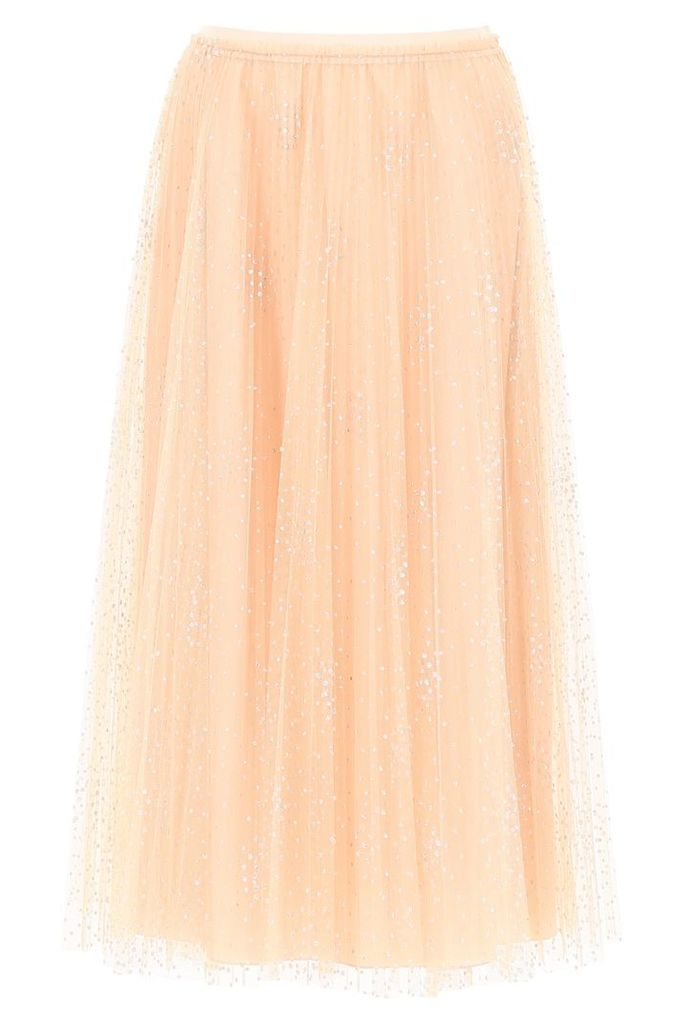 RED Valentino Lurex Plumetis Skirt