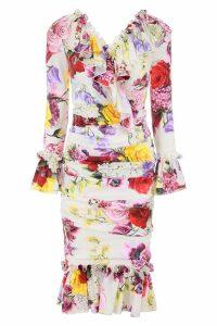Dolce & Gabbana Draped Dress With Ruffles