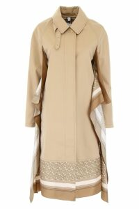 Burberry Trench Coat With Silk Inserts