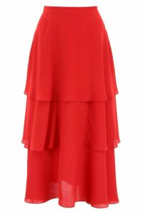 Stella McCartney Silk Midi Skirt