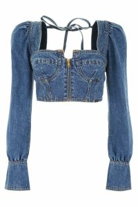 self-portrait Denim Bustier Top