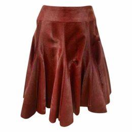 Pony-style calfskin mid-length skirt