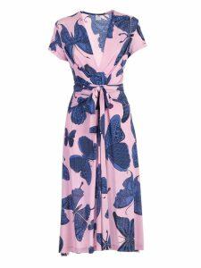 Ultrachic Butterfly Print Wrap Dress
