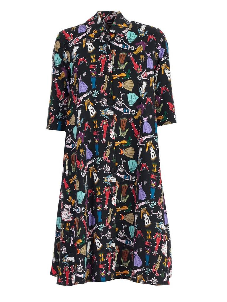 Ultrachic Graphic Shirt Dress