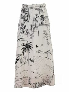Paul Smith Sketch Print Full Skirt