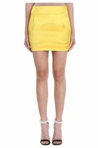 Alexandre Vauthier Lemon Cm And Wears 40n Satin Skirt