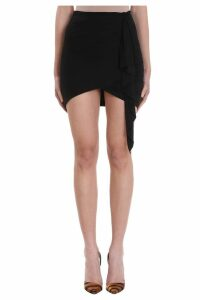 Alexandre Vauthier Black Viscose Skirt
