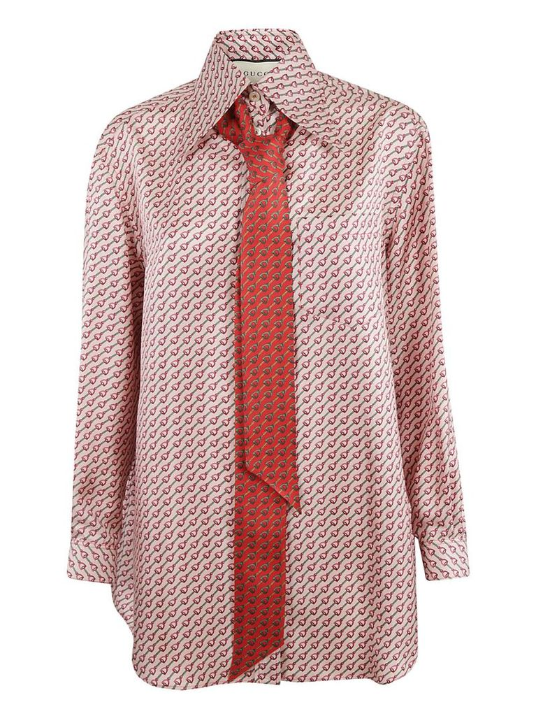 Gucci Patterned Pussy-bow Shirt