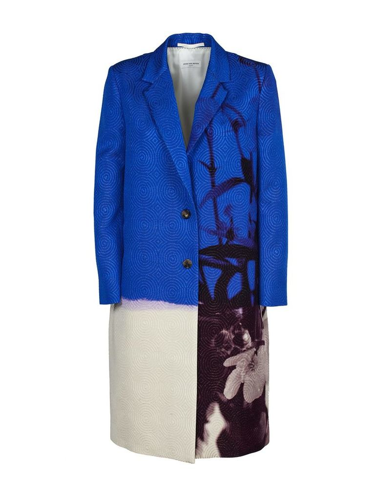 Dries Van Noten Color Block Coat