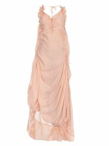 Dsquared2 Draped Silk Blend Dress