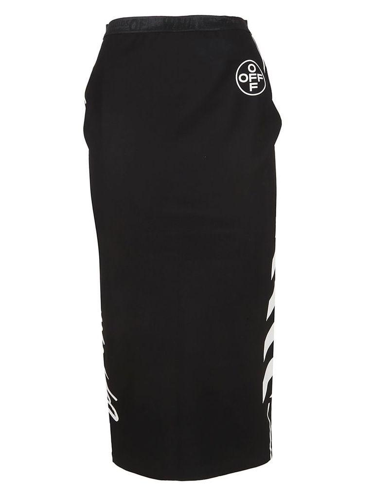 Off-white Logo Print Pencil Skirt