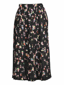 Martin Margiela Martin Margiela Pleated Fairies Print Skirt