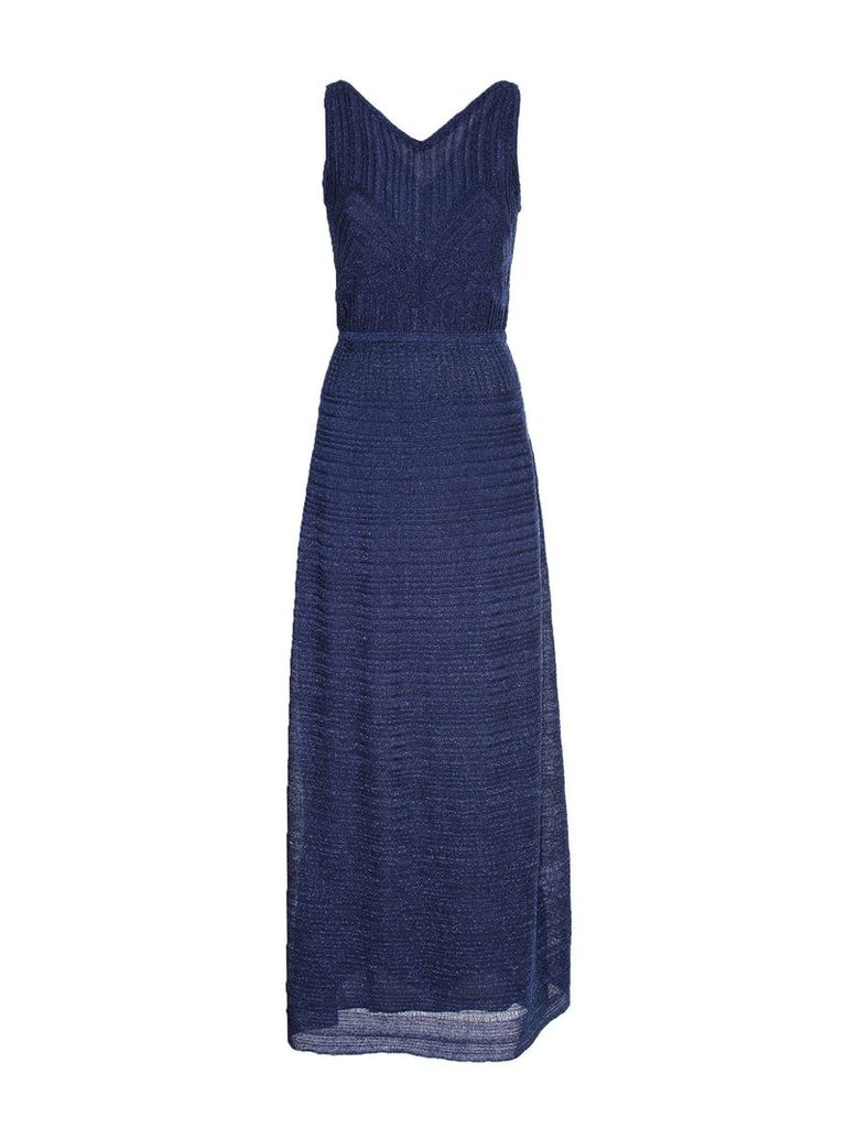 Missoni M MISSONI long lamè dress