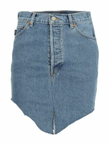 Vetements Vetements High-waisted Asymmetric Denim Skirt