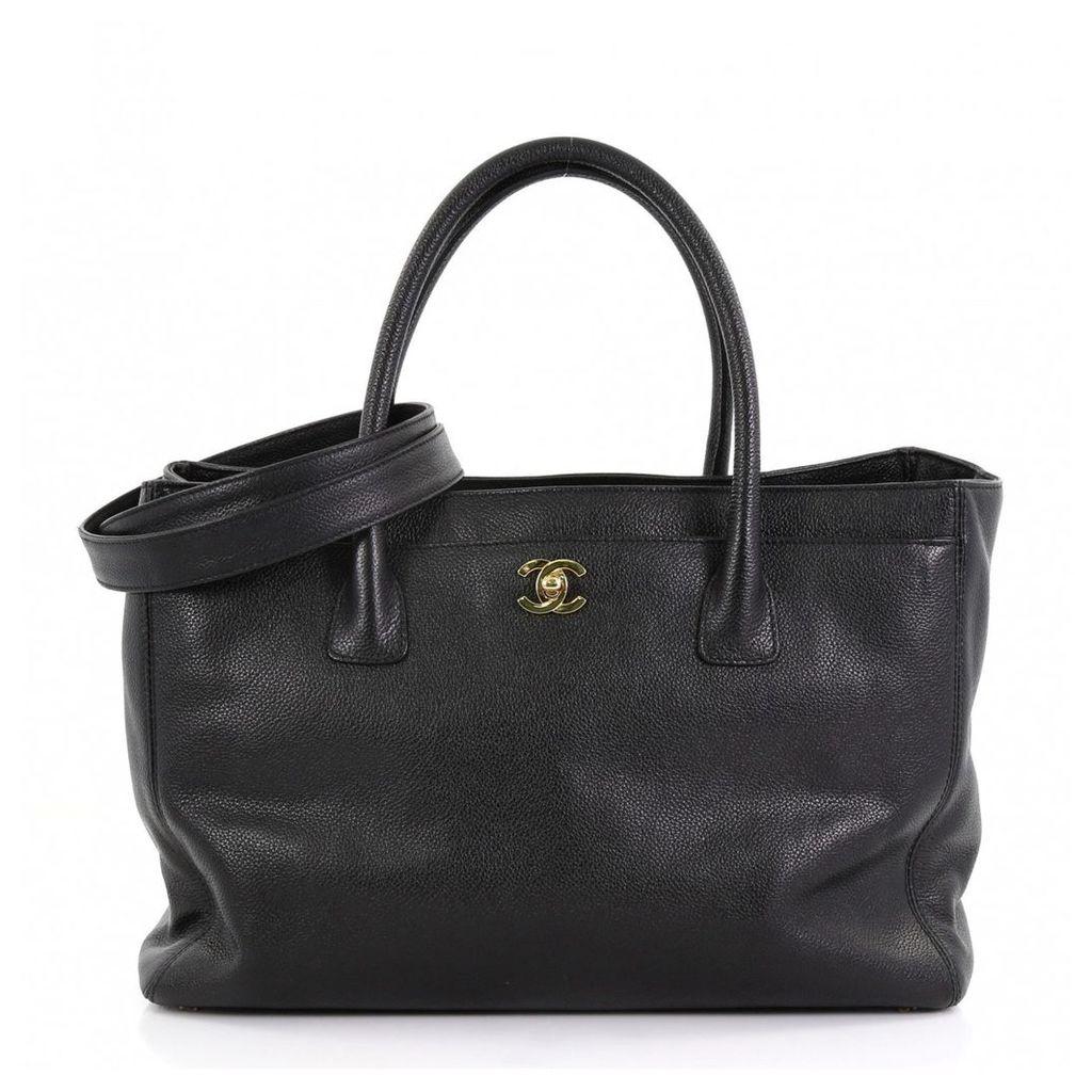 Executive leather tote
