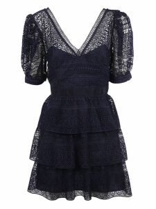 Self-portrait Lace Ruffled Dress