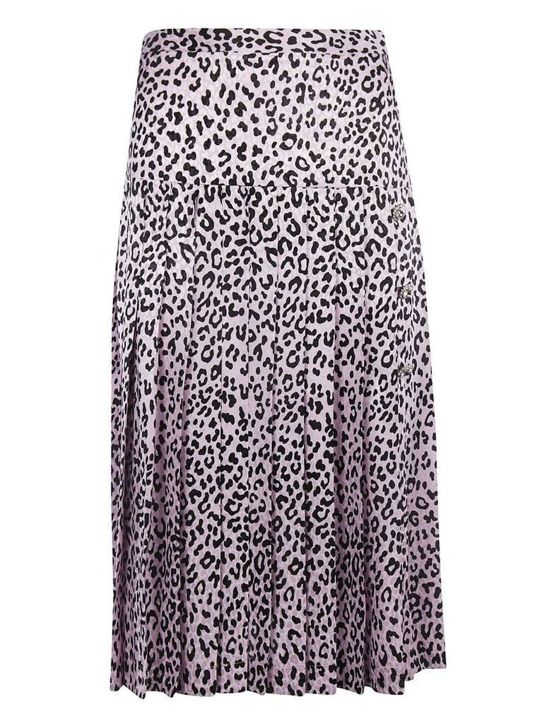 Alessandra Rich Leopard Print Skirt