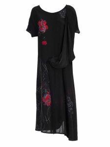 Yohji Yamamoto Deconstructed Floral Dress