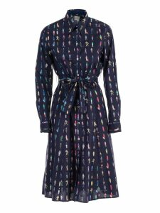 Paul Smith People Print Shirt Dress