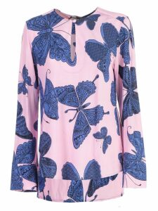 Ultrachic Butterfly Print Blouse