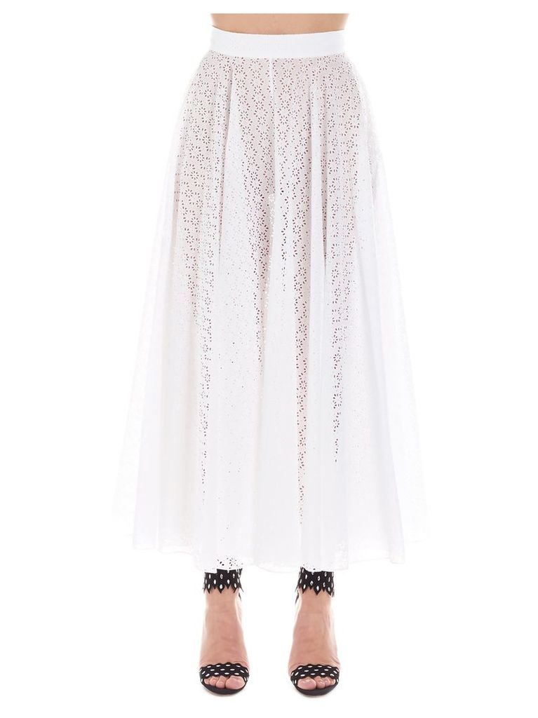 Alaia 'broderie Anglais' Skirt