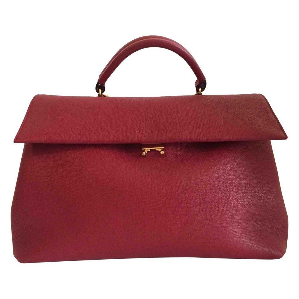 Trunk leather satchel