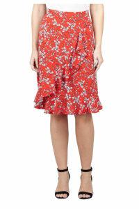 Izabel London Ditsy Floral Pephem Skirt