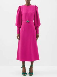 Dodo Bar Or - Nell Tassel Cotton Midi Dress - Womens - Orange Print