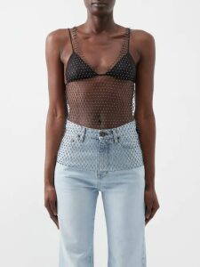Dodo Bar Or - Charlotte Floral Print Cotton Midi Dress - Womens - Brown Print