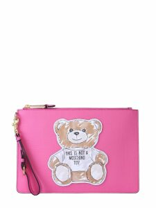 Moschino Clutch Brushstroke Teddy Bear
