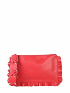 RED Valentino Clutch Rock Ruffles