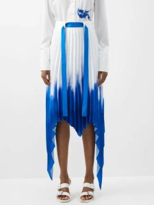 Gucci - Gg Jacquard Pleated Silk Faille Midi Skirt - Womens - Red Multi