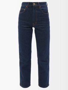 Gucci - Gg Jacquard Pleated Silk Faille Midi Skirt - Womens - Red Multi