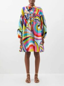 Apiece Apart - Rafaela Cotton Blend Mini Dress - Womens - Black