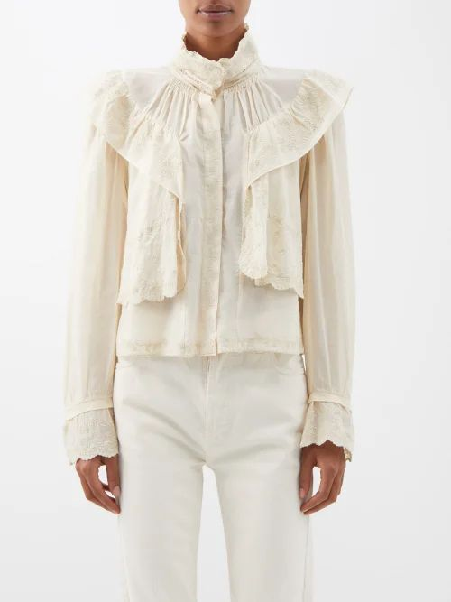 Le Kilt - Mia 72cm Houndstooth And Tartan Pleated Wool Skirt - Womens - Grey Multi