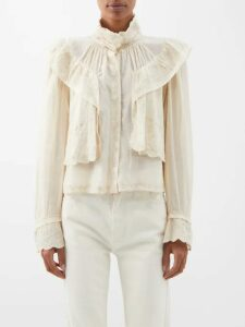 Le Kilt - Mia 72cm Houndstooth And Tartan Pleated Wool Skirt - Womens - Grey Multi
