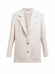 Raey - Relaxed Fit Wool Blend Blazer - Womens - Light Pink