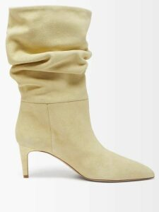 Rodarte - Satin Bow Appliqué Layered Tulle Midi Skirt - Womens - Light Pink
