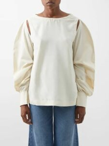 Apiece Apart - Emile Ruffle Trim Cotton Top - Womens - Red